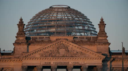bundestag : Reichstag Dome in the evening. Berlin, Germany