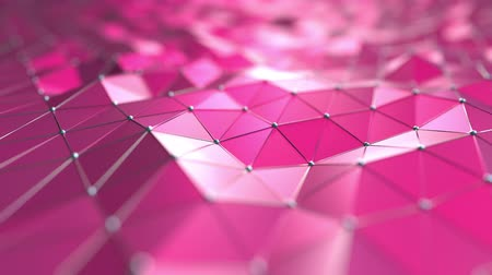 polido : Pink polygonal motion background. Seamless loop
