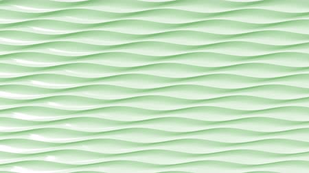 polished : Green plastic wavy lines. Loopable motion background