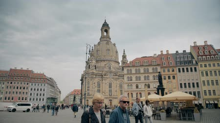 lutheran : DRESDEN, GERMANY - MAY 2, 2018. Frauenkirshe or Church of Our Lady at Neumarkt square