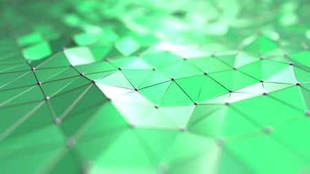 polished : Moving abstract green polygons. Loopable motion background