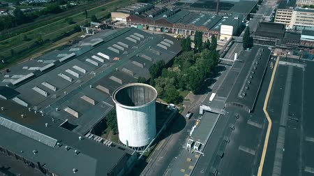 poland : Aerial view of old foundry Stock Footage