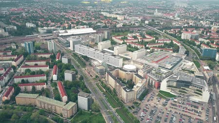 немецкий : Aerial shot of Seevorstadt-West district in Dresden, Germany