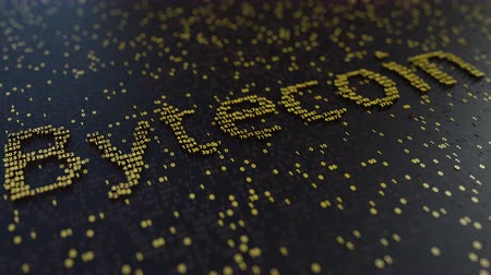 operacional : Bytecoin word made of moving golden numbers. Cryptocurrency mining or transactions related conceptual animation