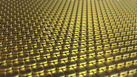 seçkinler : Fine gold bullions. Loopable motion background Stok Video