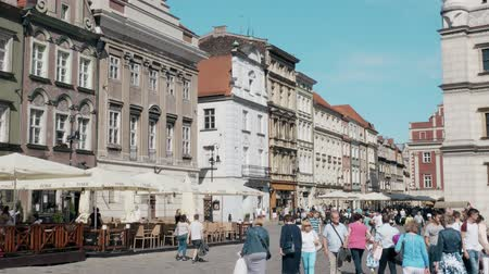poland : POZNAN, POLAND - MAY 20, 2018. Street in city centre