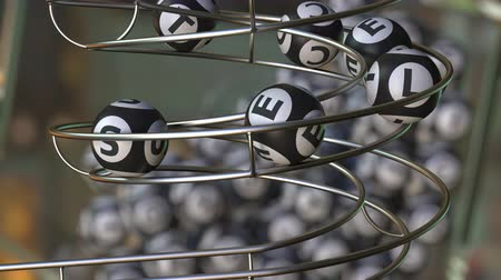 vencedor : Lotto balls make up SELECT word. Realistic 3D rendering