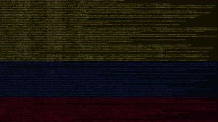 Колумбия : Source code and flag of Colombia. Colombian digital technology or programming related loopable animation