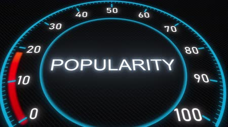 publicidade : Popularity futuristic meter or indicator. Conceptual 3D animation