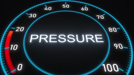 mínimo : Pressure futuristic meter or indicator. Conceptual 3D animation