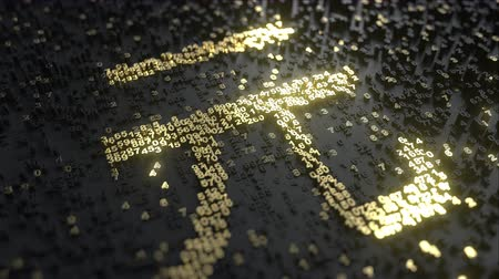 miktar : Chinese yuan sign made of gold numbers