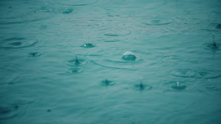 wetness : Rain at sea, slow motion video