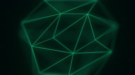 kötet : Abstract polygonal solid. 3D graphics related motion background