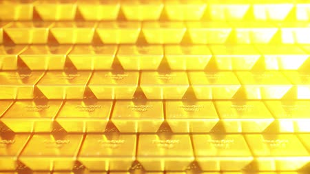 seçkinler : Stack of gold bars or bullions. Loopable 3D animation