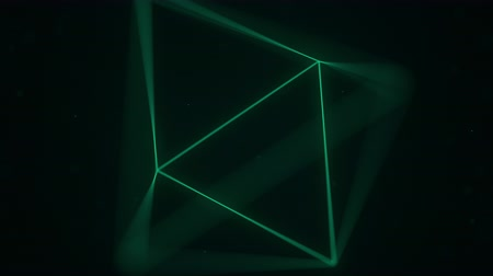 вершина : Green polygonal solid octahedron rotates seamlessly. Computer graphics related animation