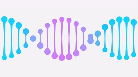 genetyka : Animated simple DNA icon. Modern medicine related loopable animation Wideo