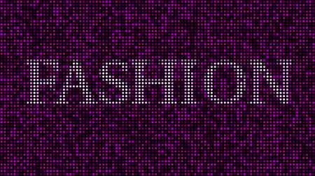 bod vzplanutí : Revealing word FASHION among pink and purple blinking dots. Loopable animation