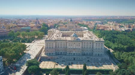 real madrid : Aerial view of Palacio Real or Royal Palace in Madrid, Spain