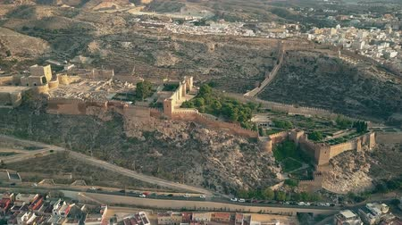 almeria : Aerial view of Alcazaba of Almeria, an ancient fortress in southern Spain