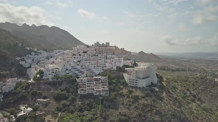 montanhoso : Aerial time lapse of mountainous Spanish town in Andalusia