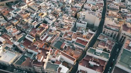 almeria : Aerial view of residential area roofs and narrow streets in Almeria, Spain
