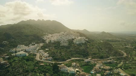 andalusier : Aerial shot of a small town in Andalusian mountains, Spain