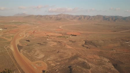 almeria : Aerial view of car testing grounds track in Almeria, Spain Stock Footage