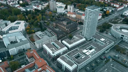 Франкфурт : Buildings in Frankfurt on the Oder centre, aerial view. Germany
