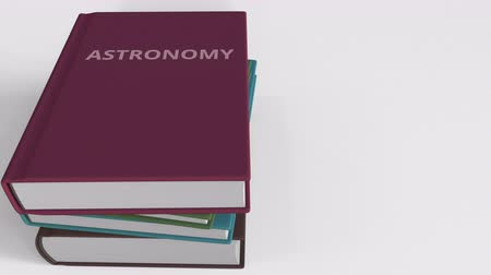 ders kitabı : Heap of books on ASTRONOMY, 3D animation