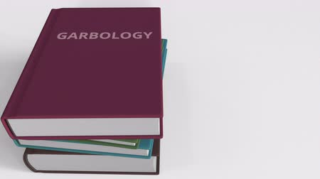zkoumat : Heap of books on GARBOLOGY, 3D animation