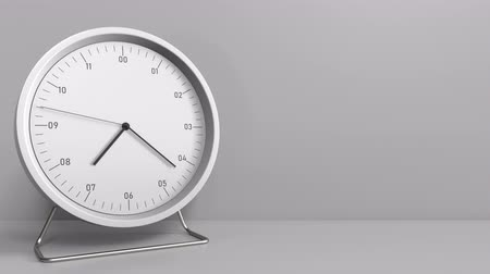 часов : Clock measures one hour from 7:00 till 8:00. 3D animation
