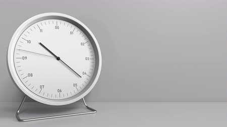часов : Clock measures one hour from 10:00 till 11:00. 3D animation Стоковые видеозаписи