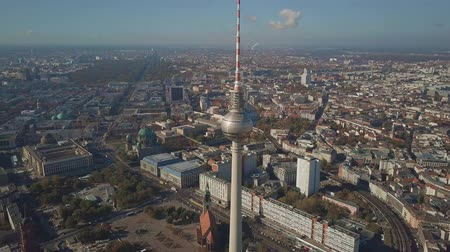 berlin skyline : Aerial view of Berlin cityscape from Alexanderplatz, Germany