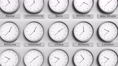 tybet : Focus on the clock showing Lhasa, China time. 3D animation Wideo