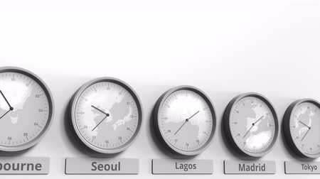 nigeria : Focus on the clock showing Lagos, Nigeria time. Conceptual 3D animation
