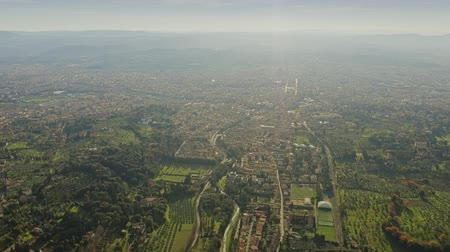 firenze : High altitude aerial view of Florence cityscape, Italy