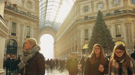 emanuele : MILAN, ITALY - JANUARY 5, 2019. Inside the Galleria Vittorio Emanuele II, famous shopping mall and a major landmark of the city