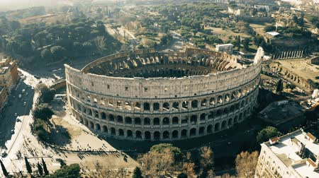 gladiatorial : Aerial shot of Colosseum or Coliseum amphitheatre. Rome, Italy