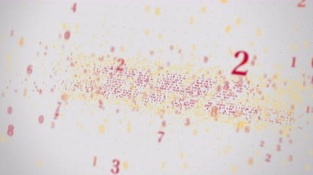 symbolic : DHL logo being made with many numbers. Digital business conceptual editorial animation