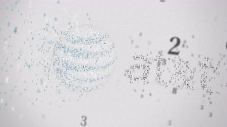 symbolic : AT&T Inc. logo being made with many numbers. Digital business conceptual editorial animation