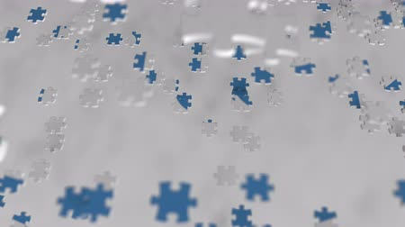 intel : INTEL logo being composed with puzzle pieces, editorial animation Stock Footage