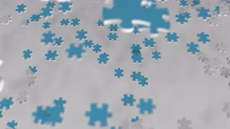 oficial : TWITTER logo composing with puzzle pieces, editorial animation