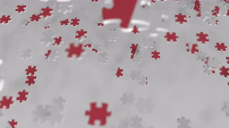 oficial : H&M logo being composed with puzzle pieces, editorial animation