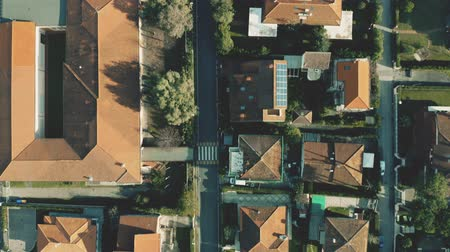 działka : Aerial top down shot of luxury villas and streets of Forte dei Marmi, Italy