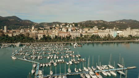 mirabello : Aerial shot of marina and seafront buildings in La Spezia. Italy
