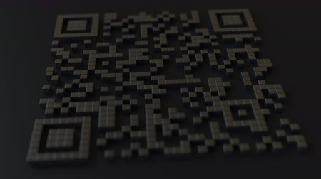 kódolás : Quick Response or QR code with yen sign. Modern fintech related 3D animation Stock mozgókép