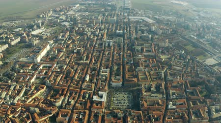 genel bakış : Aerial shot of the city of Alessandria, Italy
