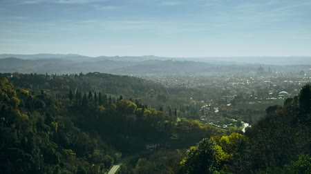firenze : Distant city of Florence on a sunny day, Italy