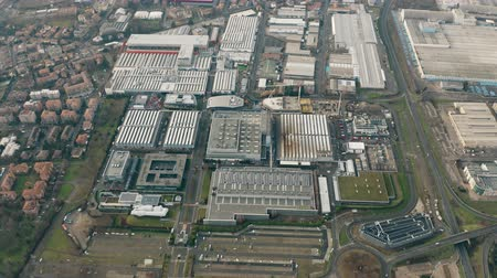 fabricante : MARANELLO, ITALY - DECEMBER 24, 2018. High altitude aerial view of the Ferrari sportscar factory