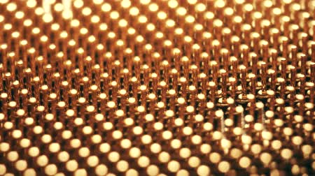 прищепка : Pins of a CPU or central processor unit, macro dolly shot